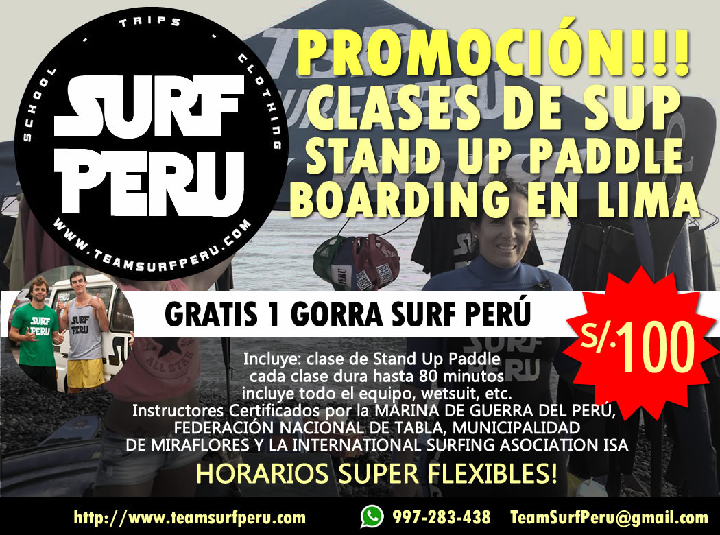 SUP Clases Stand-Up Paddle Boarding en Lima