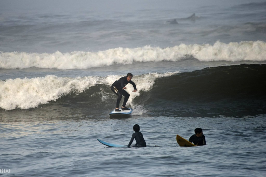 Surfing in Peru